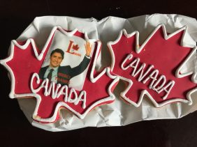 Trudeau & Obama Cookies (Obama's face isn't on his cookie)